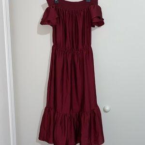 Off the shoulder flare dress